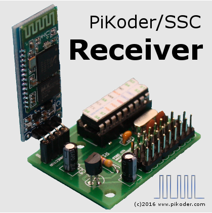 PiKoder/SSC RX: PiKoder/SSC 8 channel receiver for Bluetooth R/C
